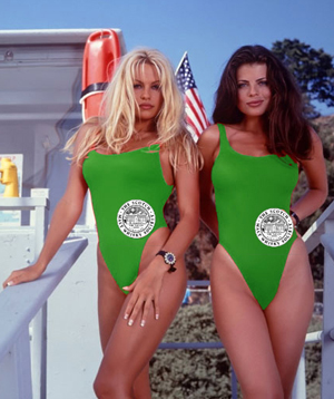Jenny and Stephanie were sporting new SMWS swimwear