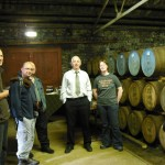Mickey Heads and I in Ardbeg warehouse tasting