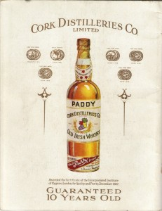 Paddy Whisky Ad 1927