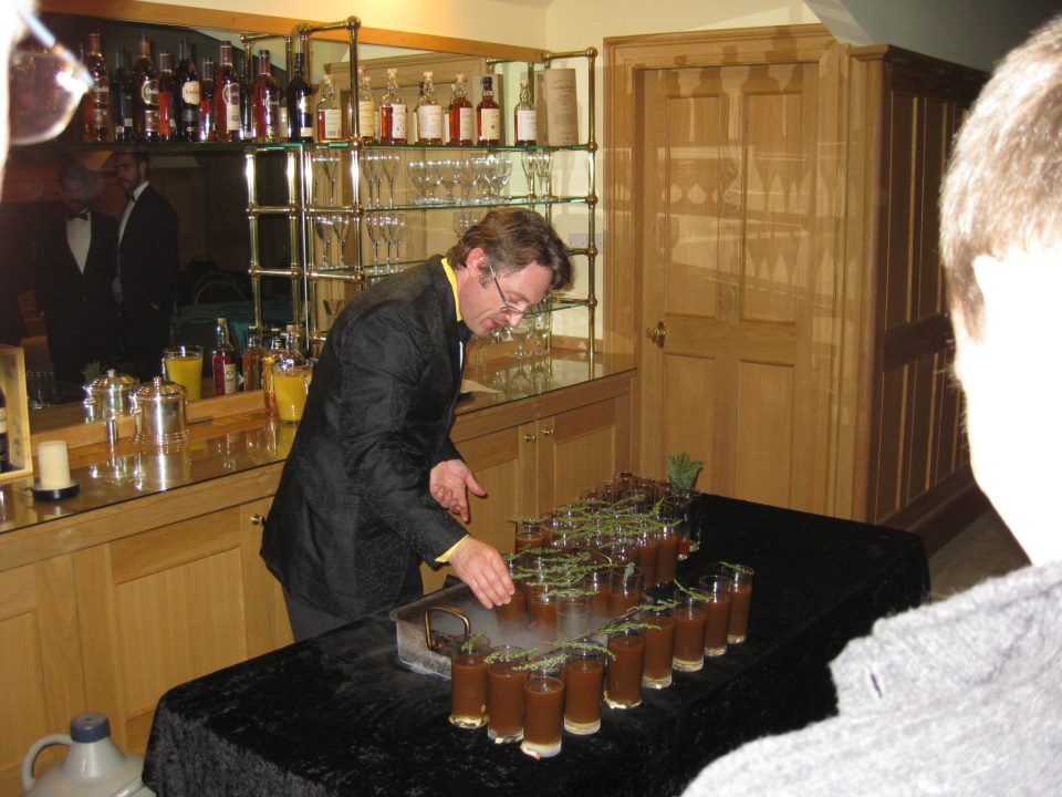 Eben creating his cocktail
