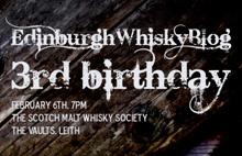 Edinburgh Whisky Blog 3rd birthday