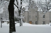 Easter Elchies House in the snow
