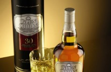 GLEN ORRIN 30 YEAR OLD WHISKY WITH GLASS