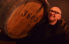 Marcin with a 1960's cask